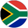 round flag of south africa large