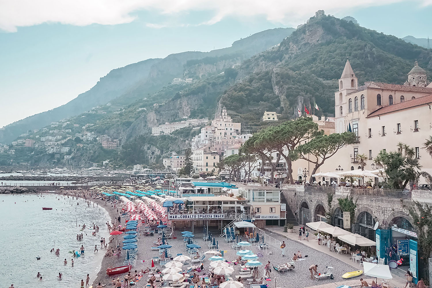 The town of Amalfi is incredibly special with its small town charm and stunning views of the sea.