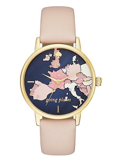 What's the perfect gift for a chic woman who's always planning her next vacation? A Kate Spade watch.