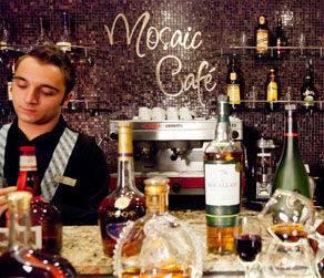 Bartender at the Mosaic Cafe
