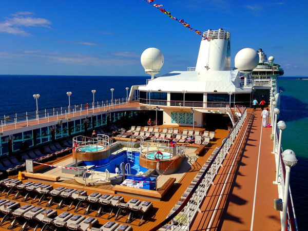 View of Azamara Journey pool deck