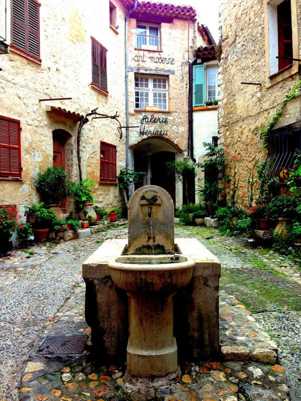 Rustic European water fountain