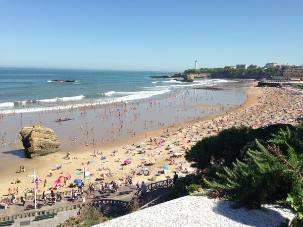 Biarritz, a world-famous upscale French resort town
