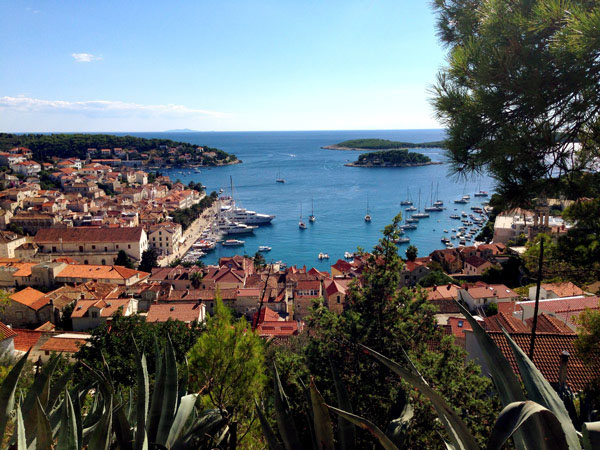Ross took this photo in Hvar, Croatia, one of the many ports he's visited over the past year.