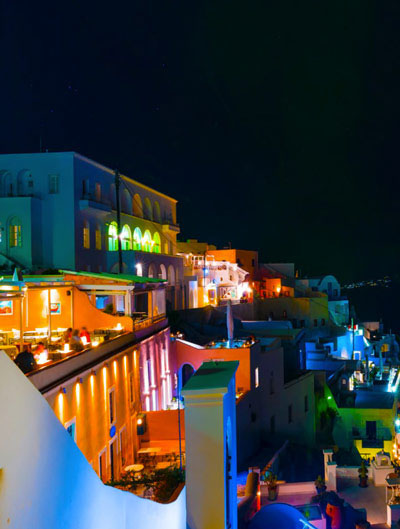 Nighttime in Santorini