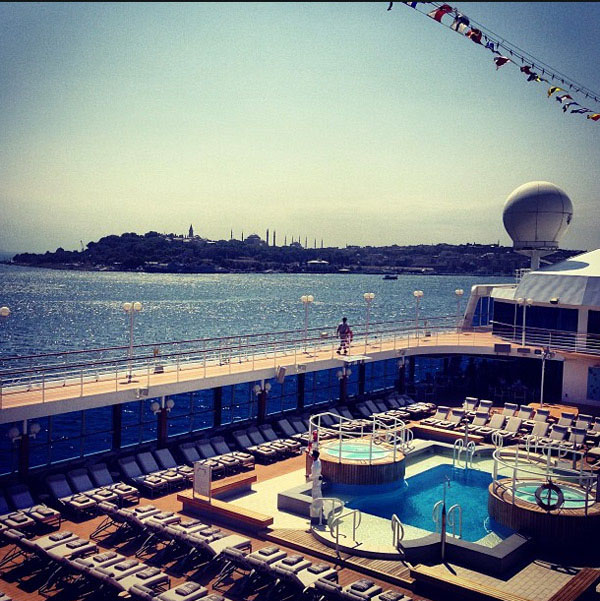 Sailing out of Istanbul by Azamara guest Ogulcan.