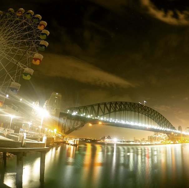 Sydney, Australia at night.