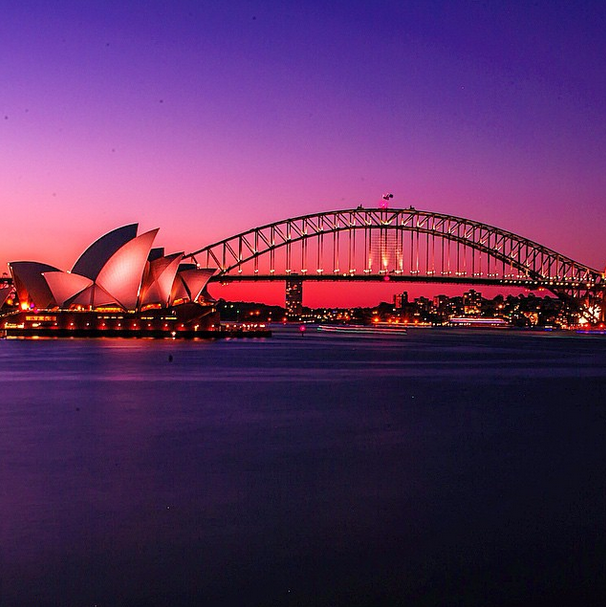 Sydney, Australia at sunset.