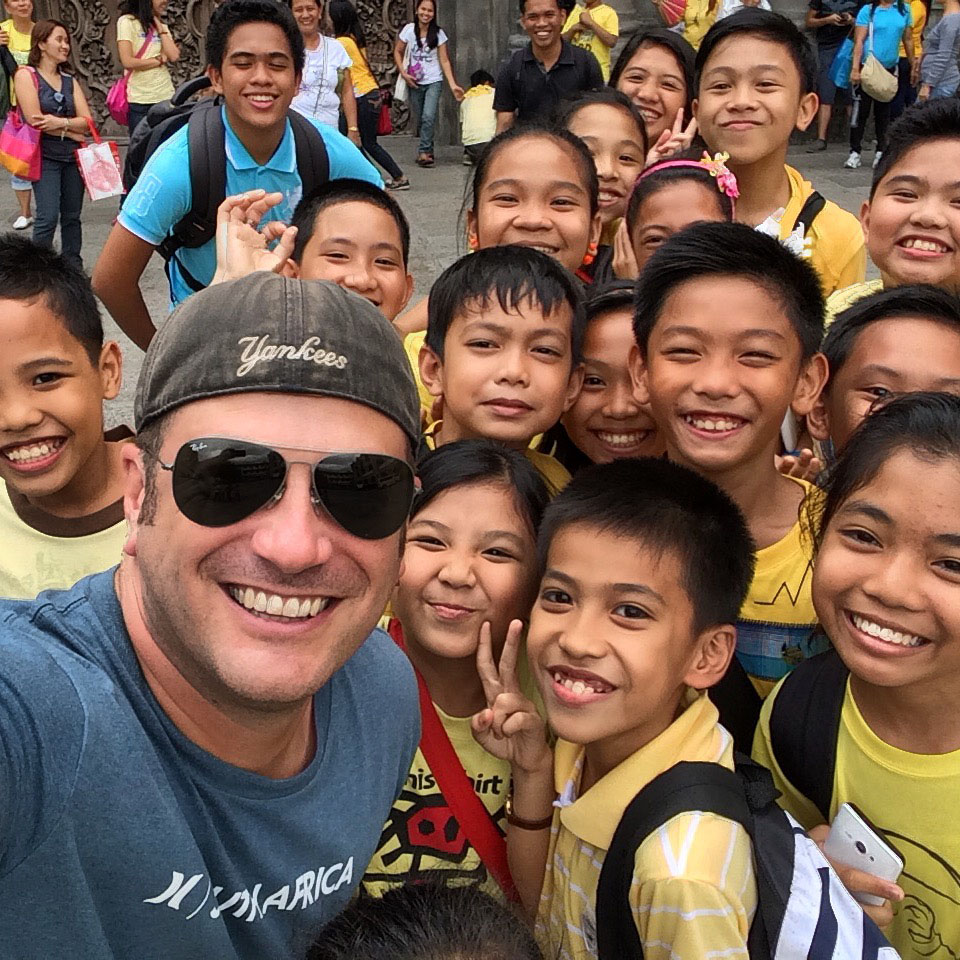 Lee Abbamonte in The Philippines.