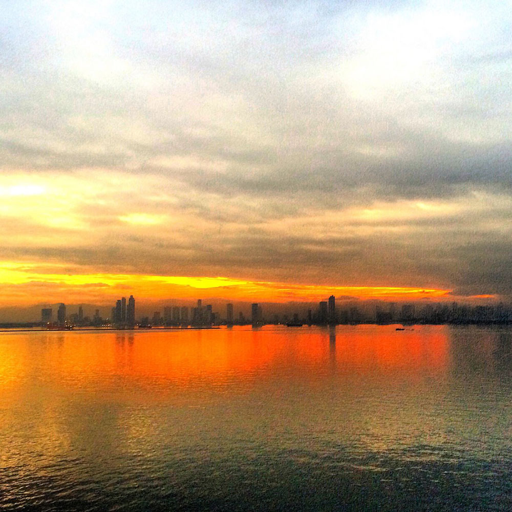 Arriving via cruise in Manila, Philippines to a stunning sunrise.