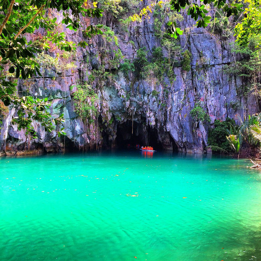 Visiting the world wonder Puerto Princesa Subterranean River with Azamara Club Cruises.