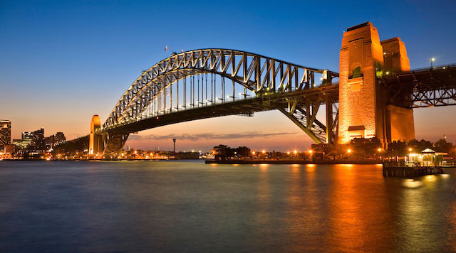 Sydney Harbour Bridge in Australia.