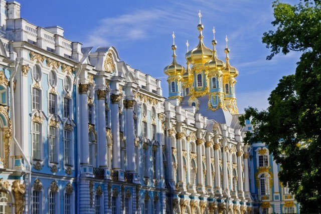 Visiting Catherine's Palace in St. Petersburg, Russia with Azamara Club Cruises.