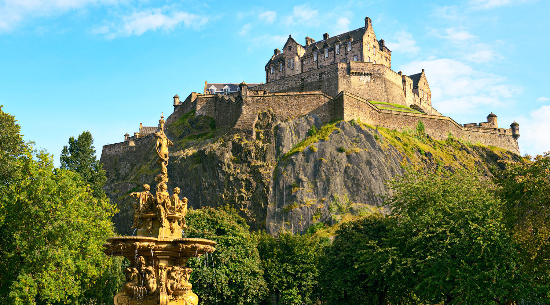 Edinburgh Castle in Scotland with Azamara Club Cruises.