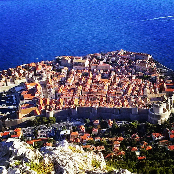 Take the cable car in Dubrovnik, Croatia to see this view.
