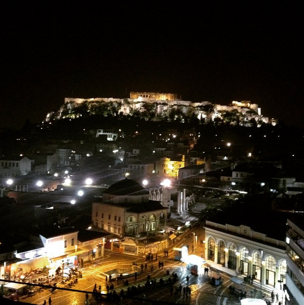 #AthensByNight on the Azamara Club Cruises #travel blog.