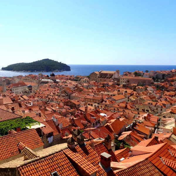 The gorgeous red tiled roofs of Dubrovnik, Croatia.