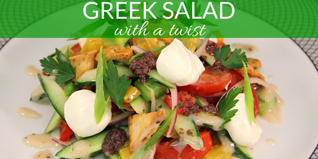 Greek Salad With A Twist - Recipe via Azamara Club Cruises