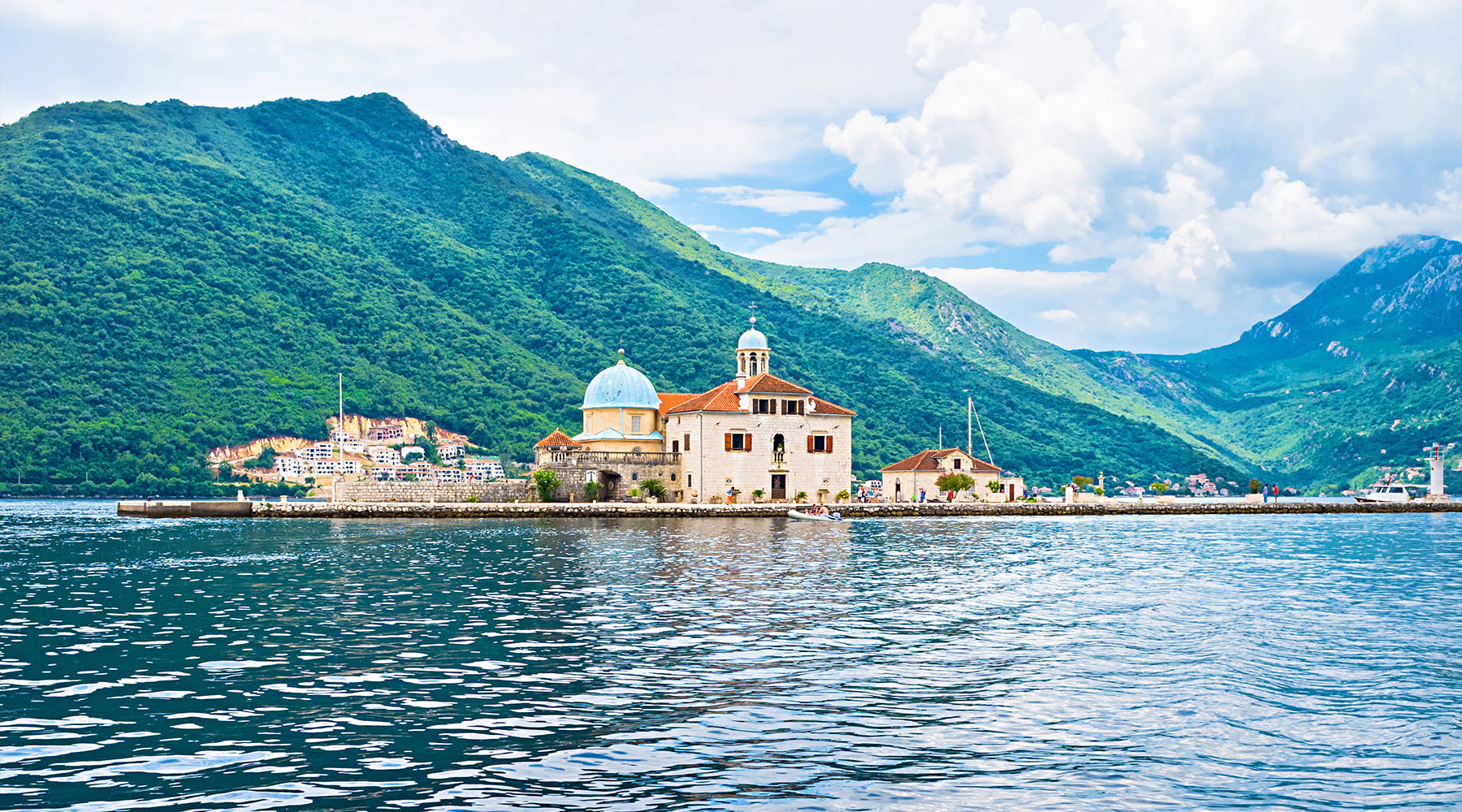 Our Lady of the Rocks Church in Kotor, Montenegro.