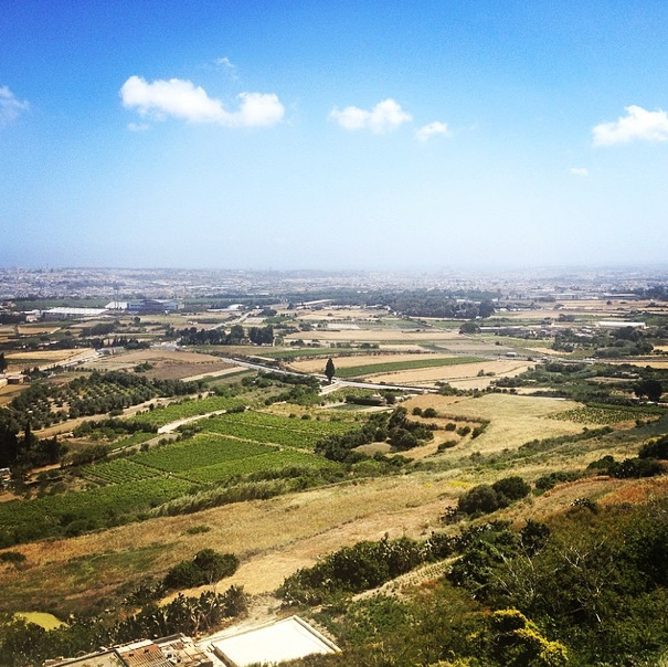 Views of Malta from beautiful walled city of Mdina