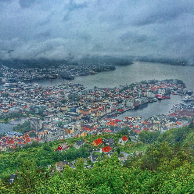 Bergen, Norway seen from Mount Floyen