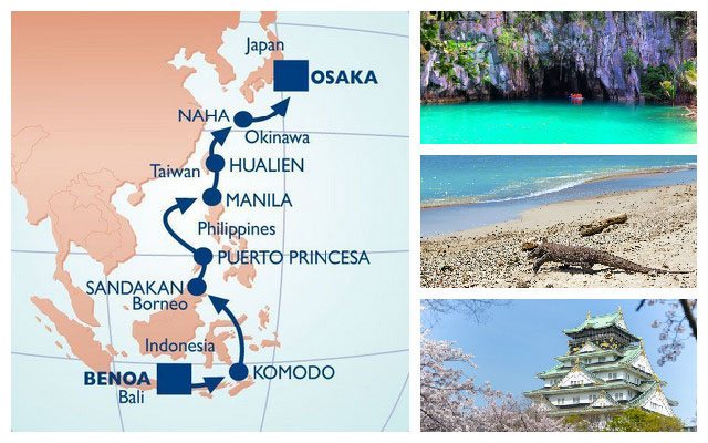 Explore Indonesia, Malaysia, Philippines, Taiwan and Japan with Azamara Club Cruises.