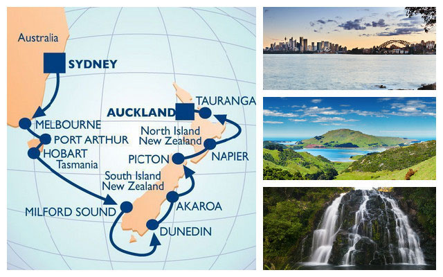 Travel to Australia, Tasmania and New Zealand with Azamara Club Cruises.