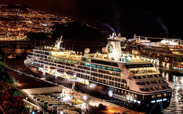 Azamara Journey docked in Madeira overnight