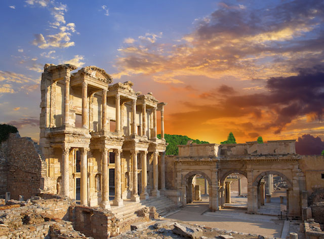 Visiting Ephesus at night with Azamara Club Cruises.