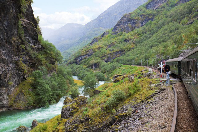 The Flam Railway in Norway with Azamara Club Cruises.