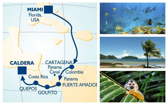 Explore the National Parks, rainforests and animal reserves of Central America with Azamara Club Cruises.