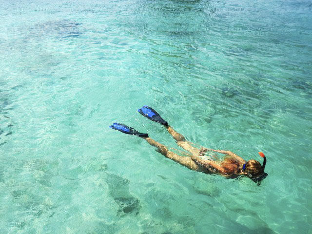 Snorkeling in Maldives.