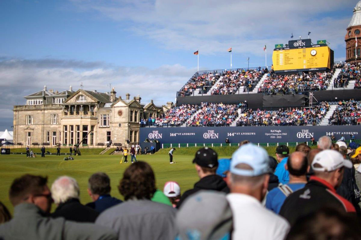 PerryGolf and Azamara guests enjoying final day attendance to The Open at St. Andrews in 2015