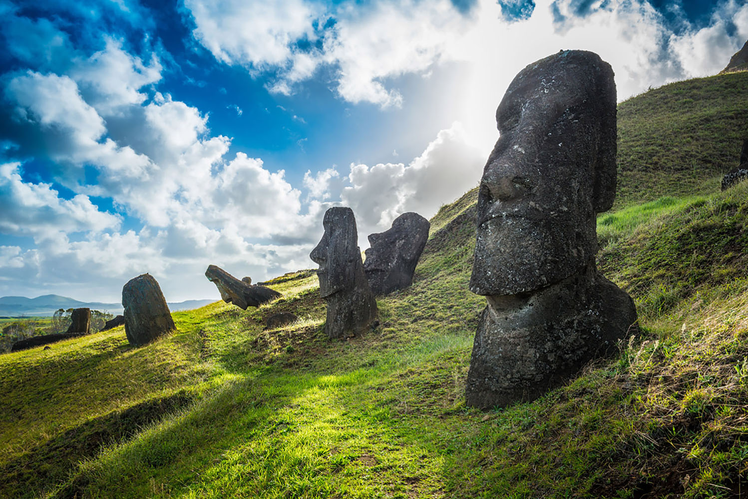 The statues on Easter Island.