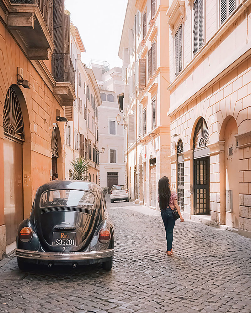 One of the best ways to truly explore Rome (and to escape the crowds) is to get lost in the quiet side streets.