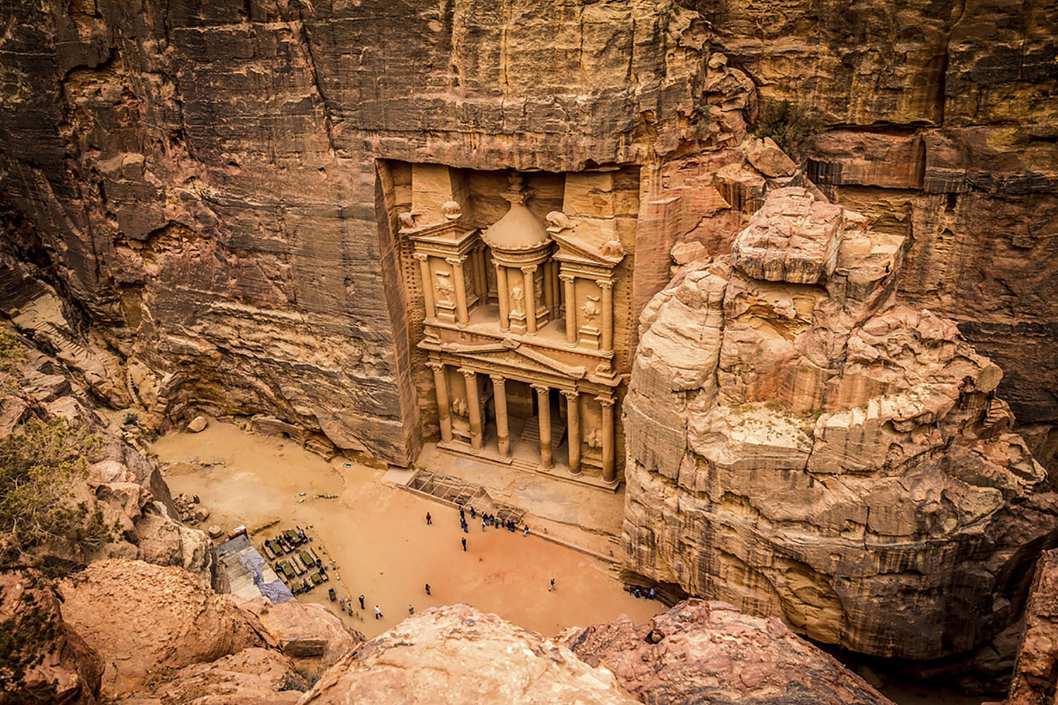 "The ""Lost City"" of Petra in Jordan."