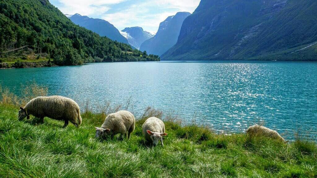 Glacial lakes in Norway.