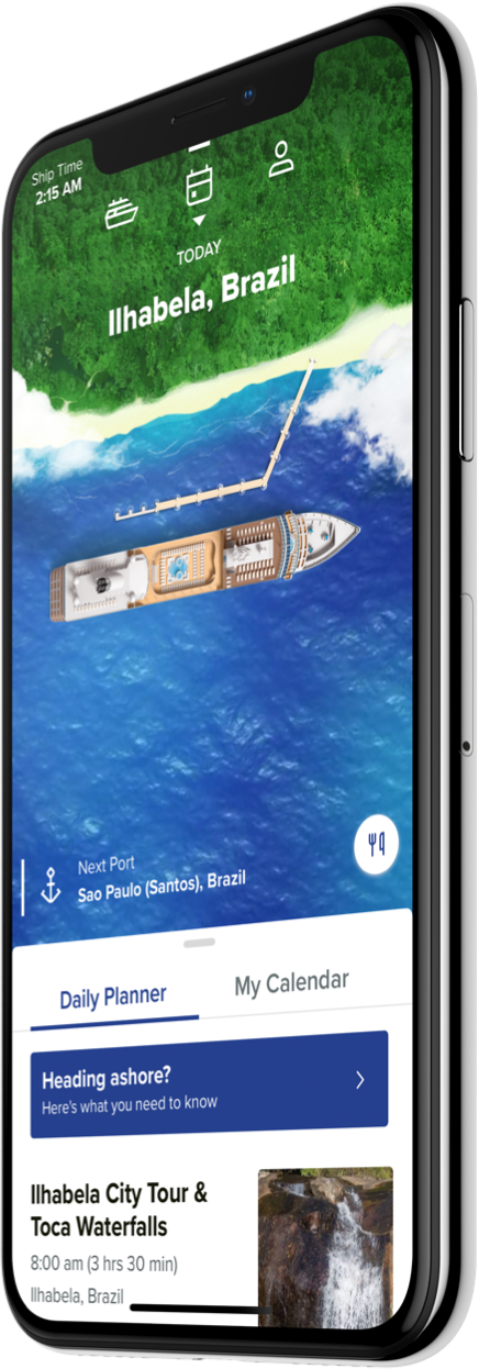 Azamara App on iPhone