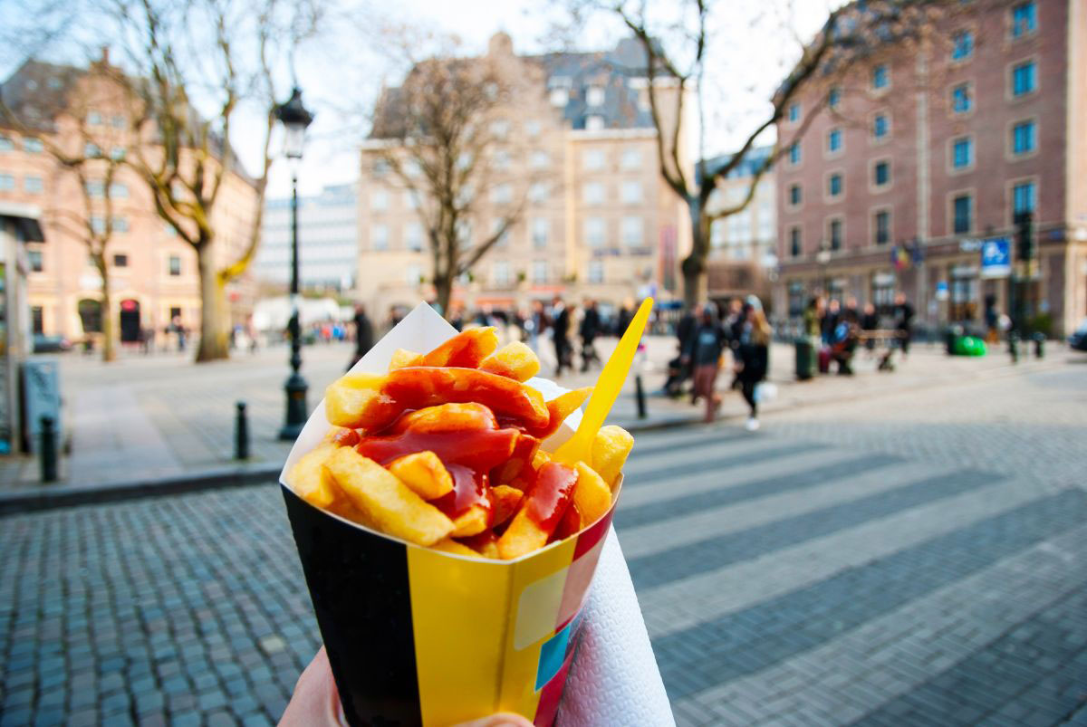 French fries, one of Belgium's most popular street foods