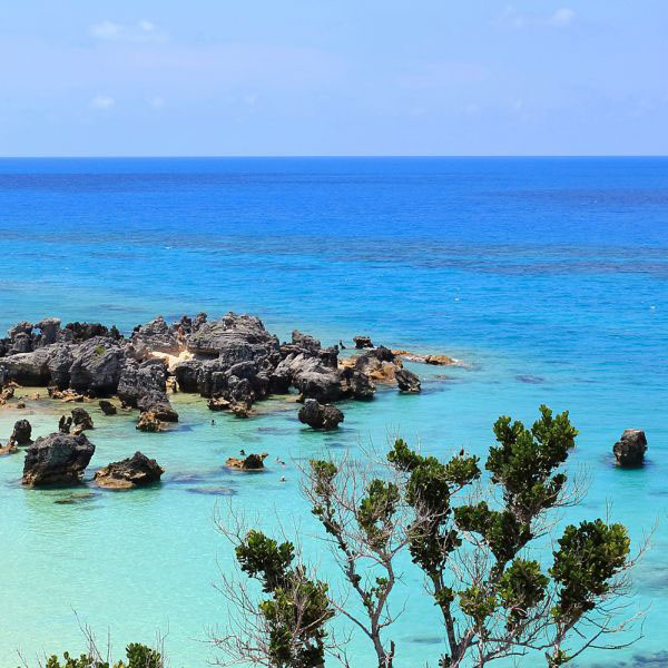 Turquoise waters near Hamilton, Bermuda.