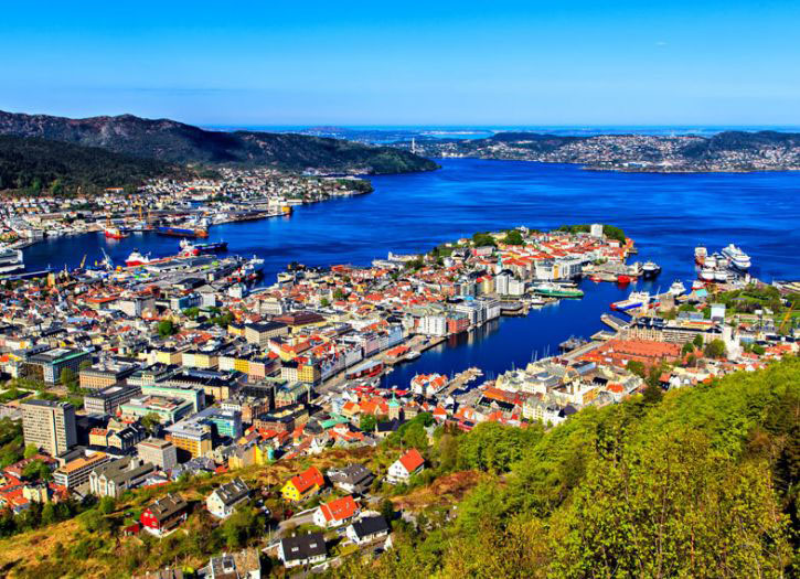 Bergen Panoramic with Mount Flyen