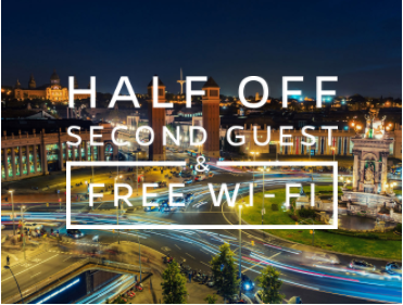 Half Off Second Guest & Free Wi-Fi