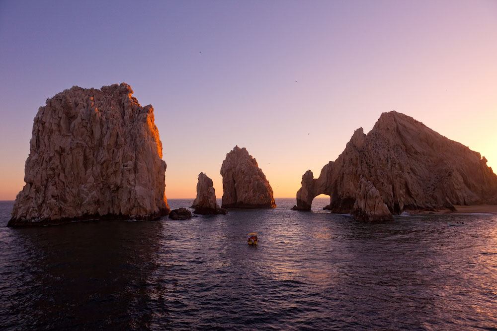 The famous El Arco rock formation in Cabo San Lucas, Mexico