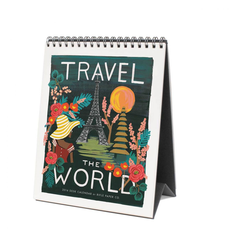 Travel The World Desk Calendar
