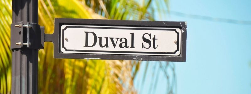 Duval St. road sign