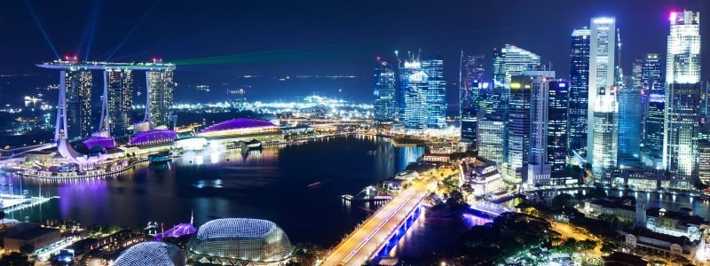 Singapore Night at a Glance