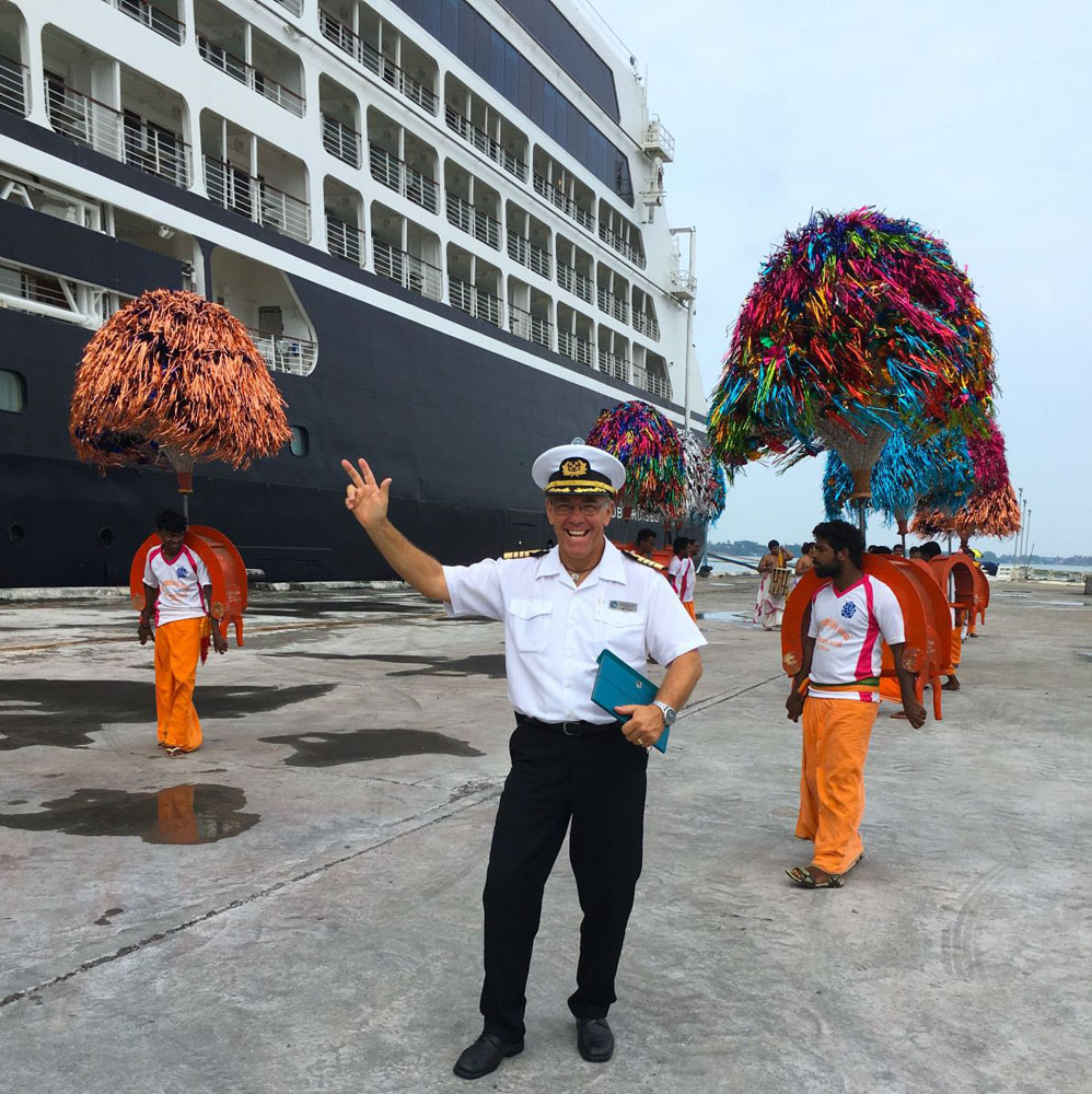 Captain José Vilarhino, one of Azamara's many cruise ship crew members