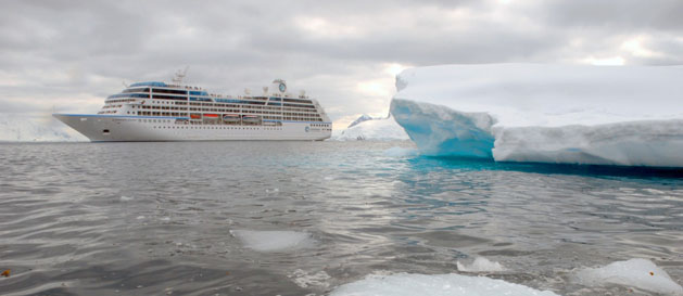 Azamara Journey near an iceberg