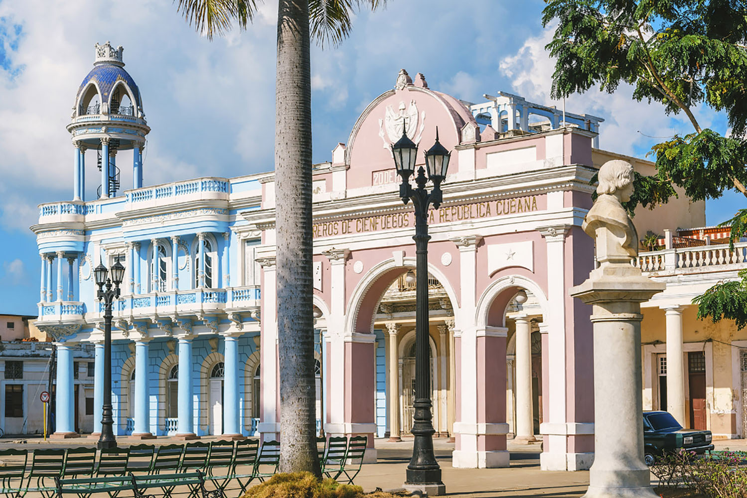 Cienfuegos is a UNESCO World Heritage Site known for its beautiful architecture and French influences.