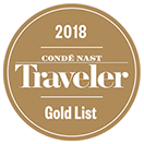 Conde Nast Traveler Gold List - 2018